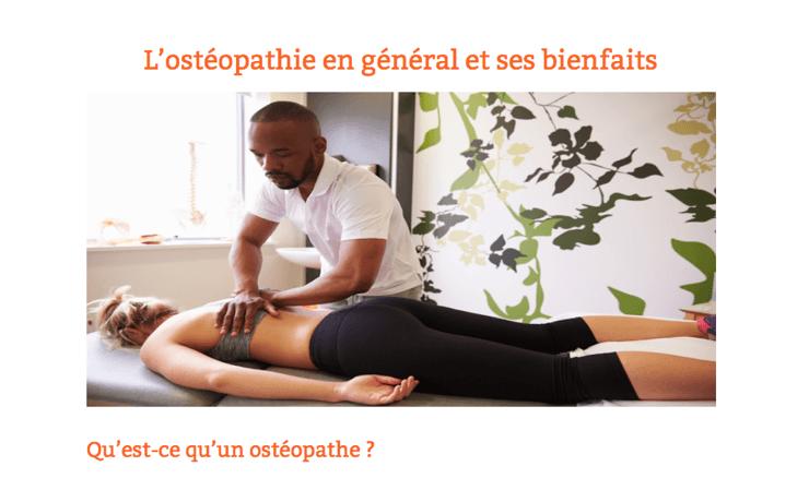 Ostéopathie dans Santé des îles