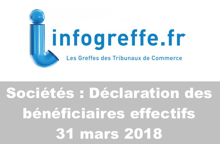 Déclaration des bénéficiaires effectifs – Date butoir 31 mars