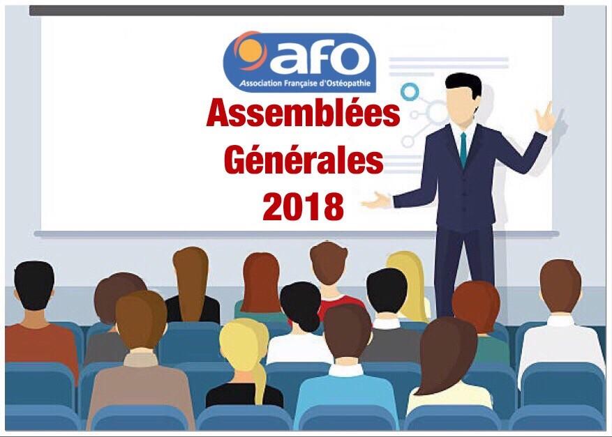 Assemblées Générales AFO 2018